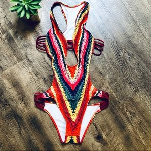 New! Sexy backless one piece bathing suit size L